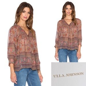 Ulla Johnson Bordeaux Peasant Bea blouse